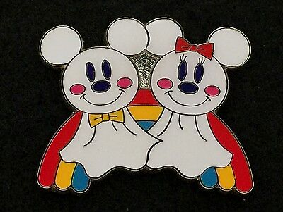 Tokyo Disney Sea Trading Pin Mickey & Minnie Mouse Rainy Day Rainbow Game 85084