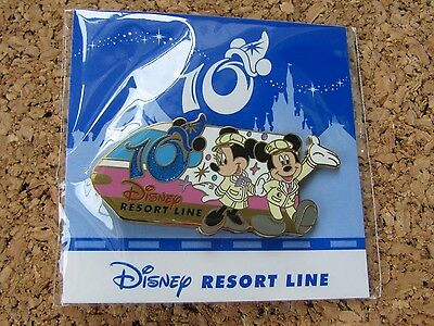 Tokyo Disney Resort Trading Pin Mickey & Minnie 10th Anniversary Monorail 85981
