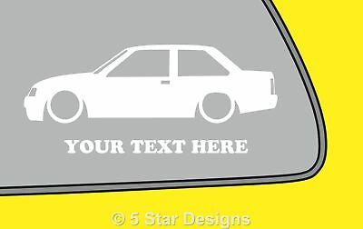2x LOW YOUR TEXT d Anglia 100E outlineSilhouette sticker decal 263