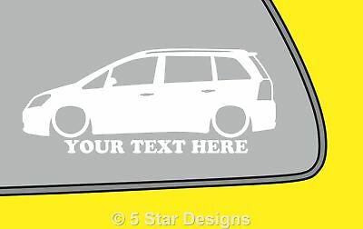 2x LOW YOUR TEXT Vauxhall Zafira B VXROpel OPC zafira B outline sticker 190