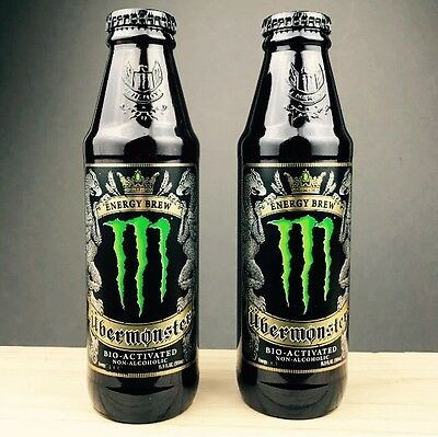 UBERMONSTER 2 UBER Brew Monster Energy Drink GLASS Discontinued Limited Edition