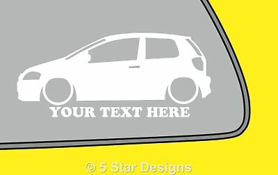 2x LOW YOUR TEXT VW Fox Volkswagen Outline VAG silhouette stickerDubdecal 350