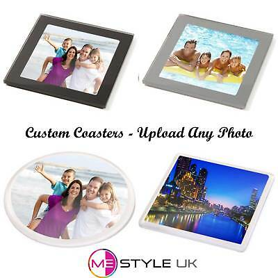Personalised Coasters - Upload Any Photo - Glass or Plastic Choice of Sizes