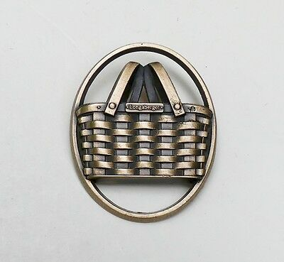 Unused Longaberger Basket Bronze Home Consultant Pin