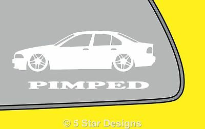 2x PIMPED BMW e39 5 series saloon sticker decal with M Parallel wheels LR243