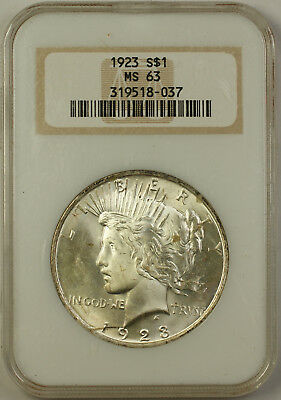 1923 Peace Silver Dollar $1 Coin NGC MS-63 (A)