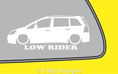 2x LOW RIDE Vauxhall Zafira B VXR Opel OPC zafira B outline sticker LR190
