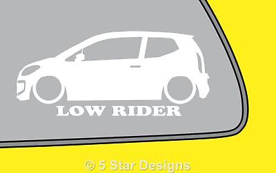 2x LOW RIDE vw Volkswagen UP! up Outline VAG silhouette sticker Dub decal LR351