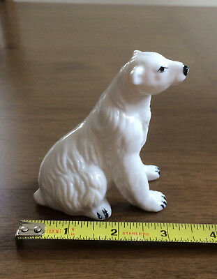 Vintage bone china small miniature polar bear figure made in Japan