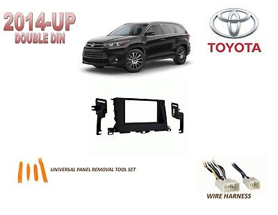 2014-UP TOYOTA HIGHLANDER DASH INSTALL KIT for CAR STEREO, with WIRE HARNESS