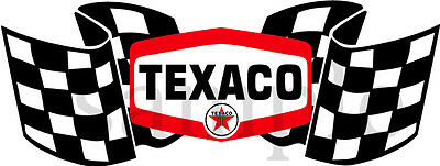 4 Inch Texaco Racing Checkered Flag Gasoline Oil Decal Sticker