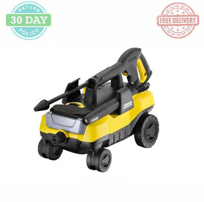 Outdoor Electric Pressure Washer Plastic Detergent Tank 4Wheels Maintenance Free