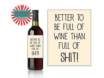 PERSONALISED WINE LABEL Funny Gift Birthday ChristmasValentines Friend Thank you