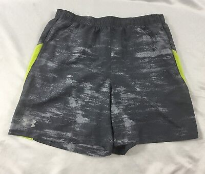 Under Armour MEN'S Athletic Shorts Loose Heat Gear Gray Print 1291354 Size XL