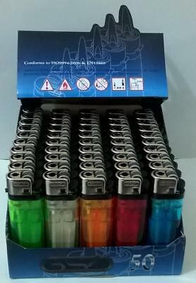 50x GSD Disposable Adjustable Flame Child Resistant Assorted Colours Lighters