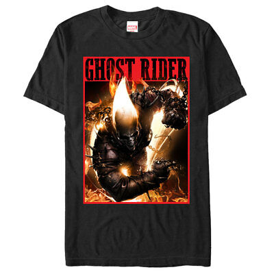 Marvel Ghost Rider Fury Mens Graphic T Shirt