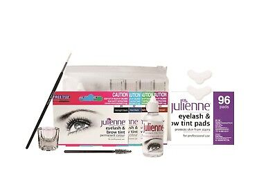 Julienne Eyelash and Eyebrow 8 Piece Tint Kit. Free Shipping