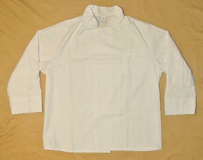 Food Service Jacket  for Food Servers, Chefs, Catering Size XL White -Case of 36