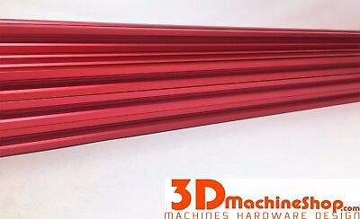 V-Rail Aluminum Extrusion Red Anodized 20mm x 20mm x 1500mm (1)