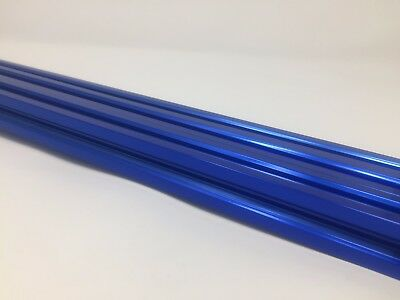 V-Rail Aluminum Extrusion Blue Anodized 20mm x 20mm x 1500mm (4)