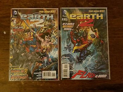 Earth 2 #1, 2, 3, 4, 5, 6, 7, 8, 9, 10 DC New 52 Lot of 10 James Robinson