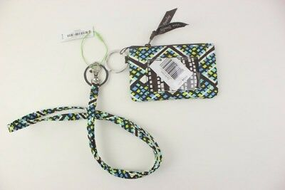 New with tags Vera Bradley Zip ID Case and Lanyard in Rain Forest