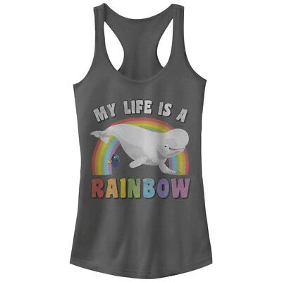 Finding Dory Bailey Rainbow Life Juniors Graphic Racerback Tank