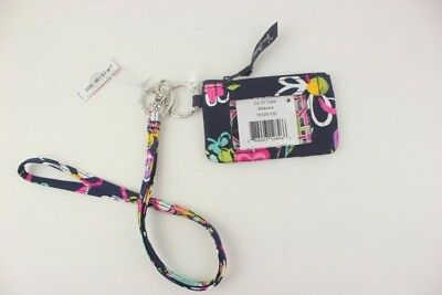 New with tags Vera Bradley Zip ID Case and Lanyard in Ribbons