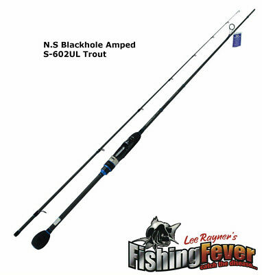 N.S Black Hole Amped S-602UL Trout Spin Fishing Rod BRAND NEW At FISHING FEVER