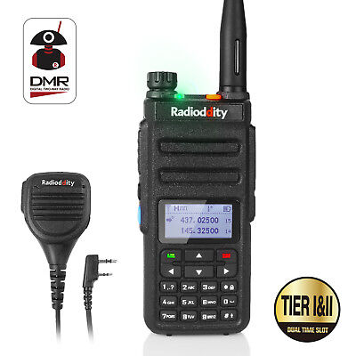 Radioddity GD-77 Dual Band Tier II DMR Digital Analog Walkie Talkie + Speaker
