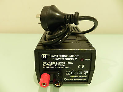 HW International - 13.8V DC Regulated, 10Amp (Auto Adjusted) Power Supply