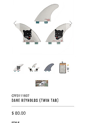Captain fin Dane Reynolds fins, Future and FCS