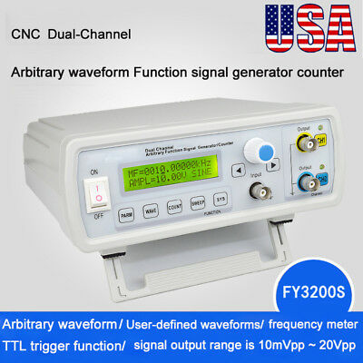 Dual Channel Arbitrary Waveform DDS Function Signal Frequency Generator Counter