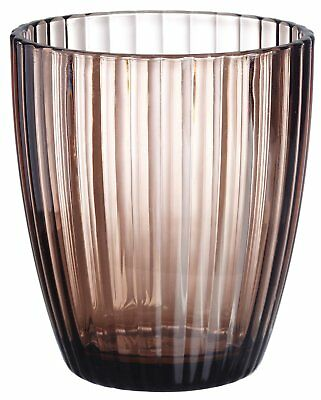 Carnation Home Fashions Brown Ribbed Acrylic Tumbler CAR-BA-ABR/TU