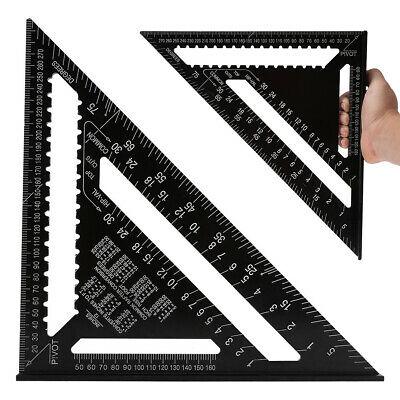 "12"" Aluminium Roofing Tri-square Ruler Rafter Angle Frame Measuring Carpenter"