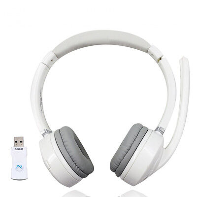 NEW 2.4G Wireless stereo Headset with Microphone For PC cellPhone Accessorie