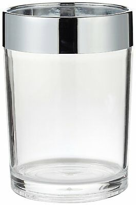 Carnation Home Fashions Clear Acrylic Tumbler with Chrome Trim CAR-BA-ACR/TU