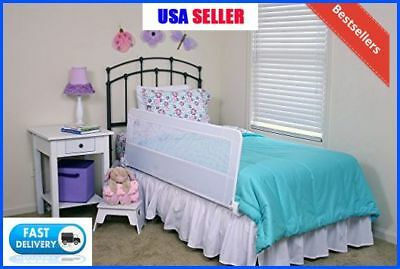 Extra Long Safety Bed Rail Toddler Kids Swing Down Adjustable Twin Queen Bedrail