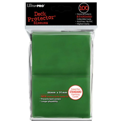 ULTRA PRO Deck Protector Sleeves Standard 100ct 66 x 91 Green MTG Pokemon