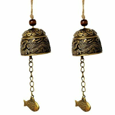 Chinese Dragon Fish Feng Shui Bell Blessing Good Luck Fortune Hanging Wind Chime