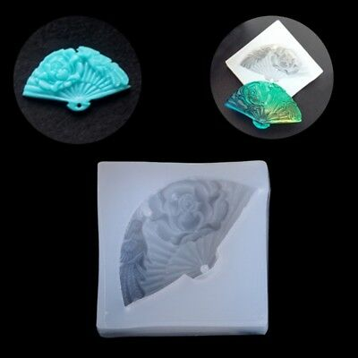 Silicone Mold Pendant Mould Resin Hand Fan DIY Jewelry Making Tool Fondant Cake