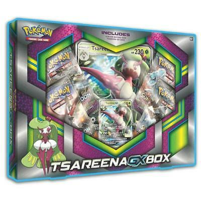 POKEMON TCG Tsareena GX Box Includes 4 Booster Packs