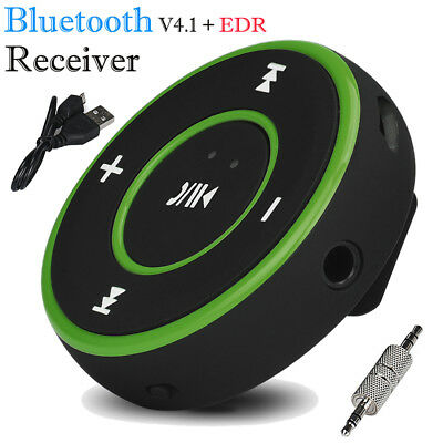 Wireless Bluetooth 3.5mm Audio Stereo Adapter Car AUX Home Music Receiver Green