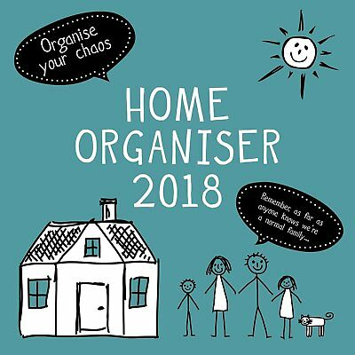 Home 2018 Family Organiser Wall Calendar (Gifted Stationery) Postage Included