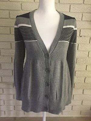 Liz Lange Maternity Cardigan Size S Gray Black White