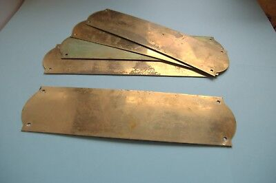 Plain brass finger plate-up to five available-hide a door  handle mark.