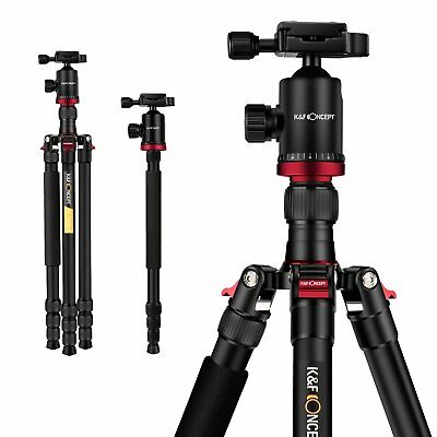 Professional Camera Tripod Monopod 4 Sections with Ball Head DSLR K&F Concept
