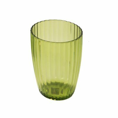 Carnation Home Fashions Ribbed Acrylic Tumbler, Palm Green CAR-BA-APR/TU/73
