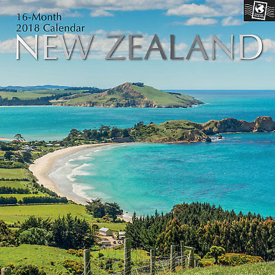 New Zealand 2018 Wall Calendar (Gifted Stationery) NEW, Postage Included