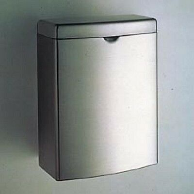 Bobrick B-270 Contura Sanitary Napkin Receptacle Rectangular Stainless Steel new